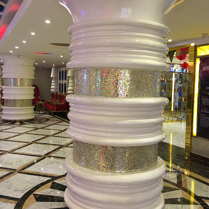 歌巢大厅玻璃钢装饰柱