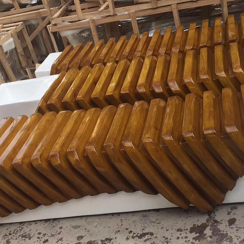 玻璃钢仿木艺术坐凳